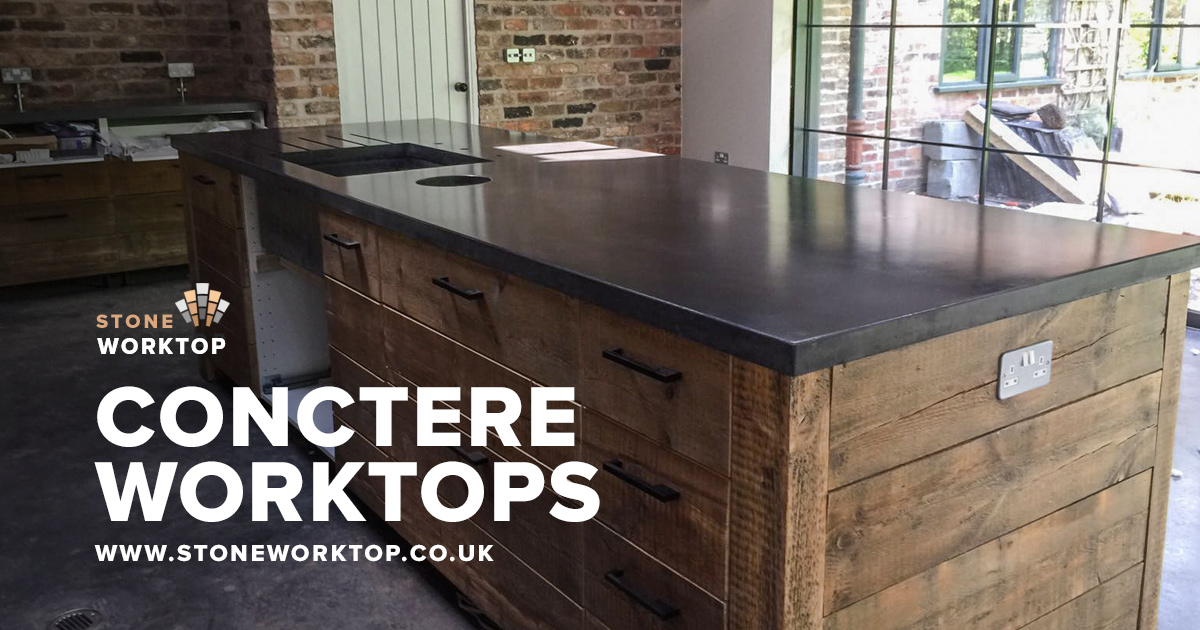 concrete worktops countertops fully customised 5 stars rated